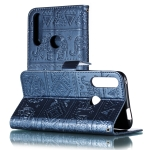 Elephant Embossing Pattern Horizontal Flip Leather Case for Huawei Y9 Prime(2019) & P Smart Z , with Holder & Card Slots & Wallet & Photo Frame & Lanyard(Dark Blue)