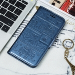 Elephant Embossing Pattern Horizontal Flip Leather Case for Xiaomi 9T & 9T Pro , with Holder & Card Slots & Wallet & Photo Frame & Lanyard(Dark Blue)