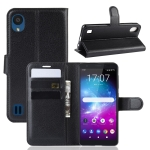 Litchi Texture Horizontal Flip Leather Case for ZTE Blade A5 (2019), with Wallet & Holder & Card Slots(black)