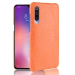 Shockproof Crocodile Texture PC + PU Case For Xiaomi Mi CC9 / Xiaomi Mi CC9mt Meitu Edition(Orange)
