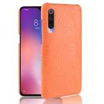 Shockproof Crocodile Texture PC + PU Case For Xiaomi Mi CC9 / Xiaomi Mi CC9mt Meitu Edition(Orange)