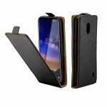 Business Style Vertical Flip TPU Leather Case  with Card Slot For Nokia2.2(black)