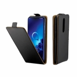 Business Style Vertical Flip TPU Leather Case  with Card Slot For Alcatel 3(2019)(black)