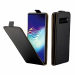 Business Style Vertical Flip TPU Leather Case  with Card Slot For Galaxy S10 5G/G977(black)