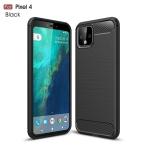 Brushed Texture Carbon Fiber TPU Case for Google Pixel 4(Black)