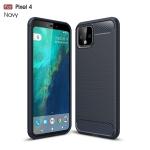 Brushed Texture Carbon Fiber TPU Case for Google Pixel 4(Navy Blue)