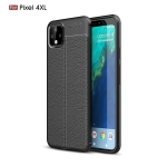 Litchi Texture TPU Shockproof Case for Google Pixel 4XL(Black)