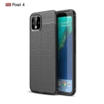 Litchi Texture TPU Shockproof Case for Google Pixel 4(Black)
