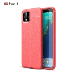 Litchi Texture TPU Shockproof Case for Google Pixel 4(Red)