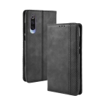 Magnetic Buckle Retro Crazy Horse Texture Horizontal Flip Leather Case for Xiaomi Mi CC9/Xiaomi Mi CC9mt Meitu Edition , with Holder & Card Slots & Photo Frame(Black)