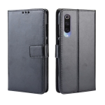 Retro Crazy Horse Texture Horizontal Flip Leather Case for Xiaomi Mi CC 9 / Xiaomi Mi CC 9 mt Meitu Edition , with Holder & Card Slots & Photo Frame(Black)