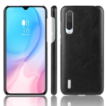 Shockproof Litchi Texture PC + PU Case For Xiaomi Mi CC9/Xiaomi Mi CC9mt Meitu Edition(Black)