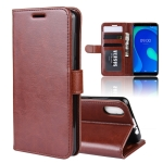 R64 Texture Single Fold Horizontal Flip Leather Case for WIKO Y80, with Holder & Card Slots & Wallet(Brown)