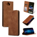 Retro Skin Feel Business Magnetic Horizontal Flip Leather Case for Sony Xperia 10 & Sony Xperia XA3(Brown)