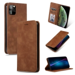 Retro Skin Feel Business Magnetic Horizontal Flip Leather Case for iPhone XI 2019(Brown)