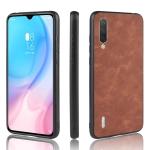 Shockproof Sheep Skin PC + PU + TPU Case For Xiaomi Mi CC9(Brown)