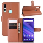 Litchi Texture Horizontal Flip Leather Case for Umidigi A5 Pro, with Wallet & Holder & Card Slots(Brown)