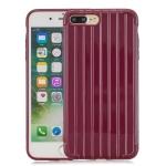 Coloured Suitcase Striped Mobile Phone Case For iPhone 8Plus / 7Plus(Claret)