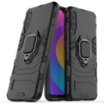 PC + TPU Shockproof Protective Case with Magnetic Ring Holder for Xiaomi Mi CC9 / A3 Lite(Black)