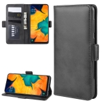 Wallet Stand Leather Cell Phone Case for Galaxy A30 / A20,with Wallet & Holder & Card Slots(Black)