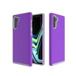 Hard Case  Anti-slip Armor Texture TPU + PC Case for Galaxy Note10+(Purple)