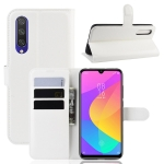 Litchi Texture Horizontal Flip Leather Case for Xiaomi MI CC9e / MI A3, with Wallet & Holder & Card Slots(white)