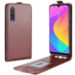 Crazy Horse Vertical Flip Leather Protective Case for Xiaomi MI CC9e / MI A3(Brown)