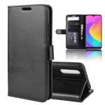 R64 Texture Single Fold Horizontal Flip Leather Case for Xiaomi MI CC9e / MI A3, with Holder & Card Slots & Wallet(black)