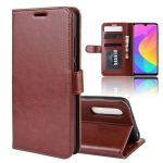R64 Texture Single Fold Horizontal Flip Leather Case for Xiaomi MI CC9e / MI A3, with Holder & Card Slots & Wallet(Brown)