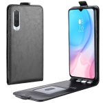 Crazy Horse Vertical Flip Leather Protective Case for Xiaomi MI CC9(black)