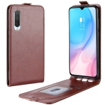 Crazy Horse Vertical Flip Leather Protective Case for Xiaomi MI CC9(Brown)
