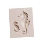 2 PCS Hippocampus DIY Modeling Mold Fondant Silicone Cake Chocolate Mold Baking Tool(Gray)