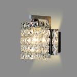 Single Head Creative Simple Modern Bedroom Living Room Aisle Corridor Crystal Wall Lamp with 5W LED Light Source