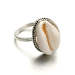 Bohemian Simple Wild Shell Alloy Ring