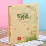 4D 6 inch Interstitial Photo Album 50 Pages for 200 PCS Photos Scrapbook Paper Baby Family Wedding Photo Albums(To Youth)