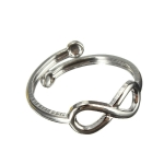 Eight Design Simple Lucky Metal Toe Ring Beach Jewelry For Women(Silver)