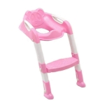 Baby Potty Training Seat Children Potty Baby Toilet Seat With Adjustable Ladder Infant Toilet Training Folding Safety Care Seat(Pink)