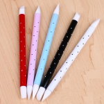 5 PCS Double Head Nail Art Brush UV Gel Polish Glitters Sequins Silicone Brushes 3D Manicure Tool