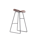 Nordic Design Upholstered PU Leather Pad Metal Base Room Counter Bar Stool(Coffee)