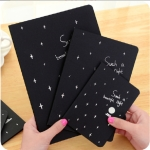 Sketchbook Diary Drawing Painting Graffiti Soft Cover Black Paper Sketch Book Notebook Office School Supplies Gift, Size:M 32K