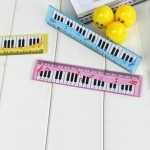 5 PCS Cartoon Piano Note Ruler Bookmarks Student Gift, Random Color, Length:15cm