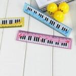 5 PCS Cartoon Piano Note Ruler Bookmarks Student Gift, Random Color, Length:15cm