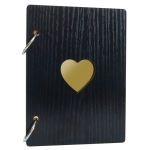 3 PCS 6 inch 32 Pages Wooden Photo Album Baby Growth Memory Life Photo Record Book(Black)
