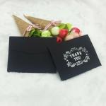 100 PCS Mini Size Black Stamping Envelopes Party Favor Gift, Size: 7.5x10cm(Thank you)