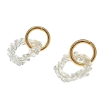 925 Silver Elegant Small Round Crystal Stud Earring for Women