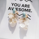 Women Fashion Elegant Cute Shell Petal Shape Geometric Earring(Clip Earrings)