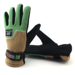 Anti-skid And Anti-wind Outdoor Cycling Fleece Hiking Climbing Running Ski Full Finger Gloves(Lady Green)