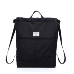Solid Patchwork Waterproof Swimming Bag Dry Wet Separation Canvas Fitness Sports Yoga Bag Backpacks(Black)