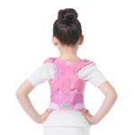 JBN-002 Children Posture Corrector Back Shoulder Lumbar Waist Supporting Correction Straighten Upper, Size:M(Pink)