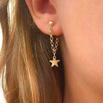 Fashion Personality Women Simple Star Earrings Tassel Earrings